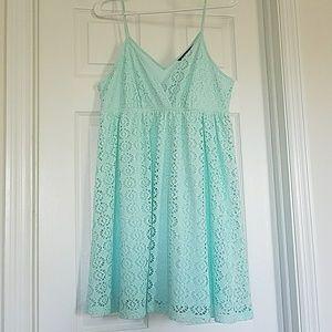 Aqua Babydoll Dress